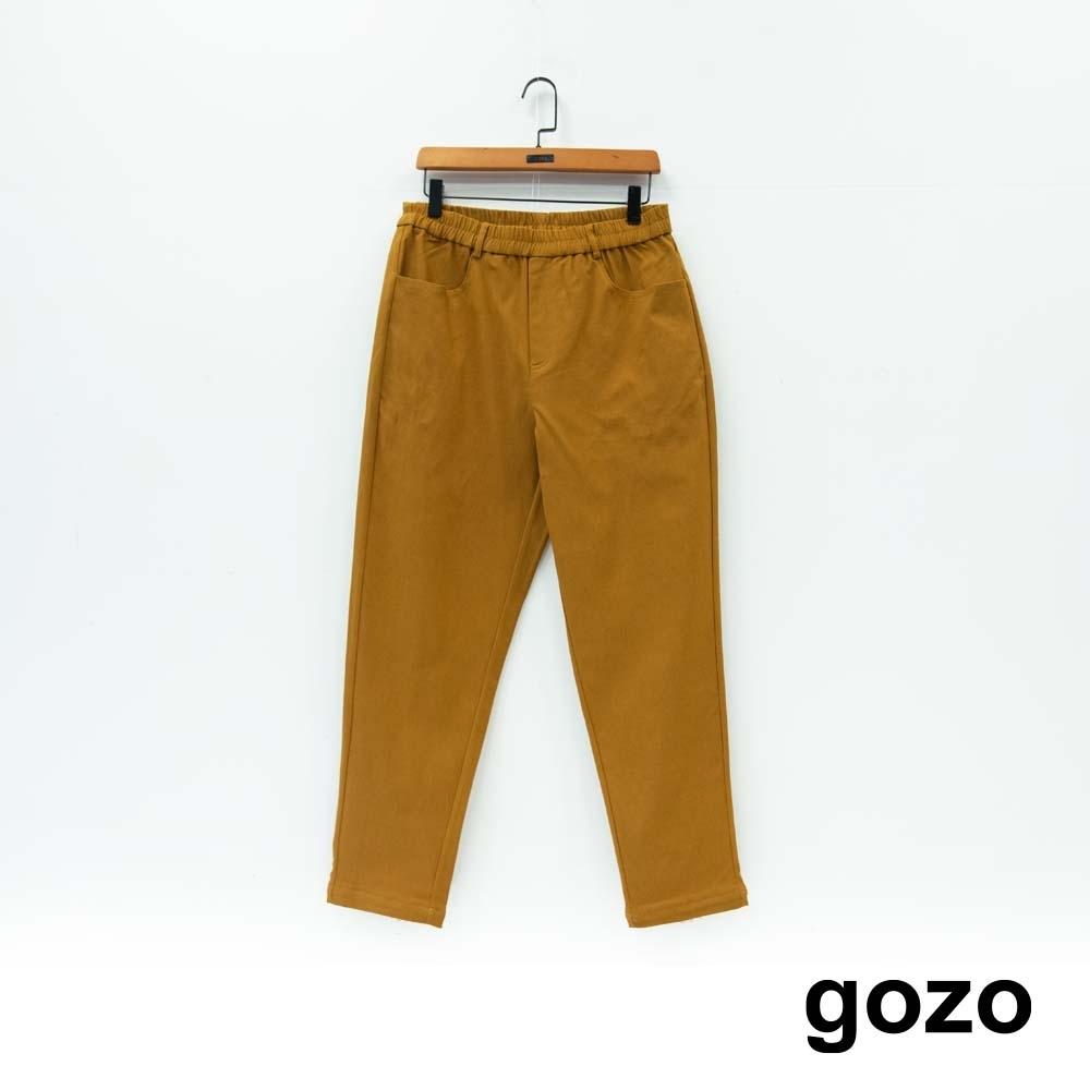 gozo 造型口袋鬆緊腰頭休閒褲(二色)