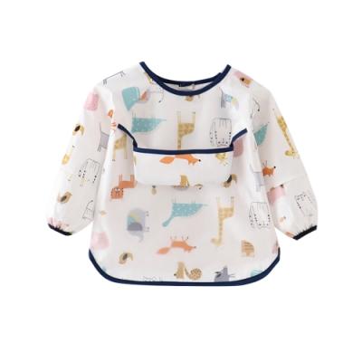 Baby童衣 寶寶反穿衣 袖口加強防水接飯兜 88567