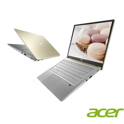 (附M365 15個月)Acer SFX14-41G 14吋效能輕薄筆電(Ryzen5 5500U/GTX1650 4G獨顯/16G/512G PCIe SSD/SWIFT X/金)