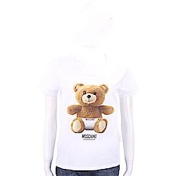 MOSCHINO Underwear 內褲泰迪熊寶寶白色棉質T恤