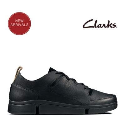 Clarks 運動行風 王牌三瓣風潮解構式設計休閒鞋 黑色拼色