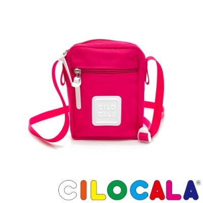 CILOCALA 亮彩尼龍防潑水TATE直式斜背包 亮粉色