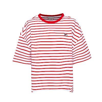 FILA女短袖圓領T恤-紅 5TES-5412-RD