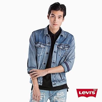 Levis 男款 牛仔外套 Type 3 經典修身版型 不規則水洗