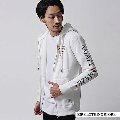 內刷毛拉鍊連帽外套(3色) ZIP日本男裝