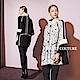 Haute Couture 高定系 精緻3D立體提花高領拼接長版大衣外套-高冷白 product thumbnail 1