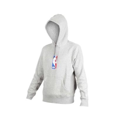 NIKE 男NBA連帽長袖T恤-長T 長袖上衣 籃球 刷毛 保暖 灰