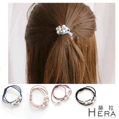 Hera赫拉  珍珠多層次綁結髮圈髮束手鍊兩用-2入組(隨機色)