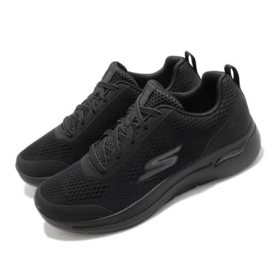 Skechers 慢跑鞋 Go Walk Arch Fit 男鞋 運動 健走 緩震 透氣瑜珈鞋墊 黑 216116BBK