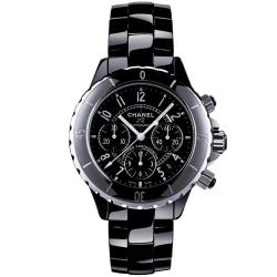 CHANEL J12 H0940 黑陶瓷經典計時機械錶-42mm