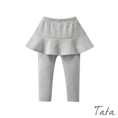童裝 素色刷絨彈力褲裙 共二色 TATA KIDS