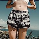 Biki比基尼妮泳衣   水墨假二件式速乾泳褲(M-XXL)