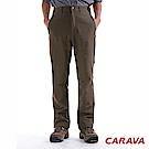 CARAVA男防潑保暖軟殼褲(暗橄綠)