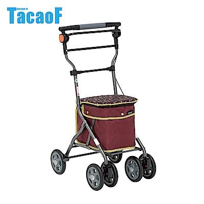 日本TacaoF幸和 中型重量款購物助步車-酒紅花漾