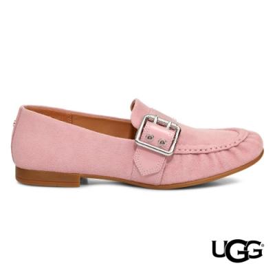 UGG女士 Charlotte 粉嫩麂皮樂福鞋
