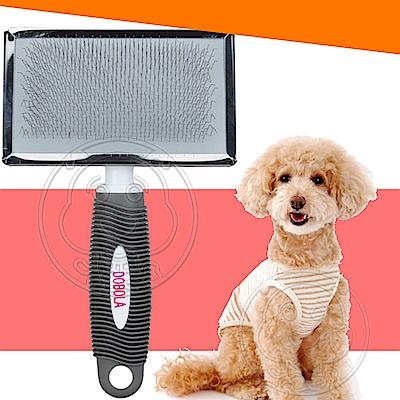DYY》犬貓用波紋握把鋼絲無圓頭針梳-XL號