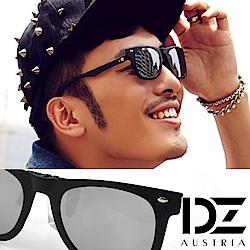 DZ 雙橫釘 偏光防曬太陽眼鏡墨鏡夾片(黑框水銀片)