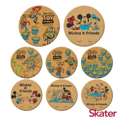 Skater杯墊2組-玩具總動員+米奇