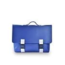 M.R.K.T.  素面皮革拼接方形公事包-134478A BLUE (藍色)