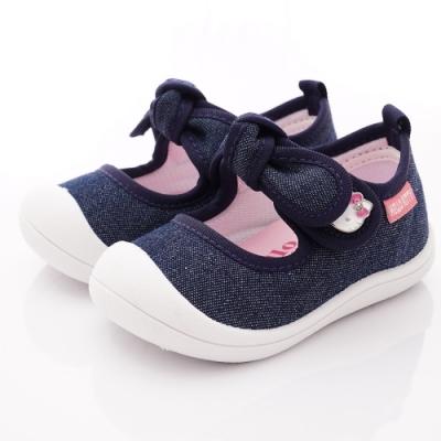 HelloKitty童鞋 蝴蝶結娃娃鞋款 SE119834藍(小童段)