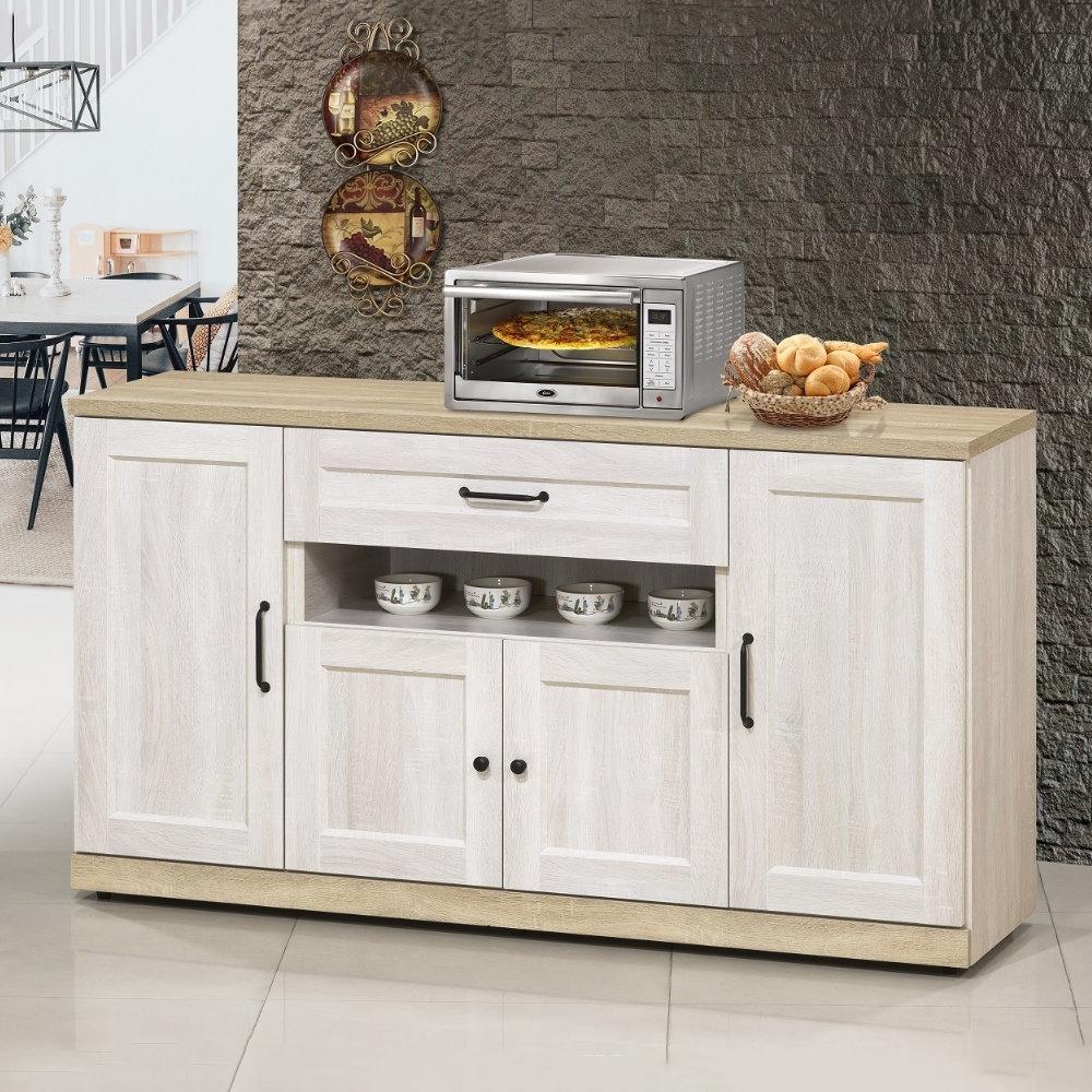MUNA 泰倫斯5尺白橡木色餐櫃(下座)  150.3X40X83.5cm