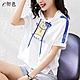 初色  卡通貓咪印花連帽T恤-白色-(M-2XL可選) product thumbnail 1