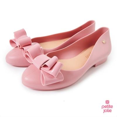 Petite Jolie--可愛麻花捲果凍娃娃鞋-粉紅