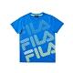 FILA KIDS 童短袖圓領上衣-藍 1TEV-4902-BU product thumbnail 1