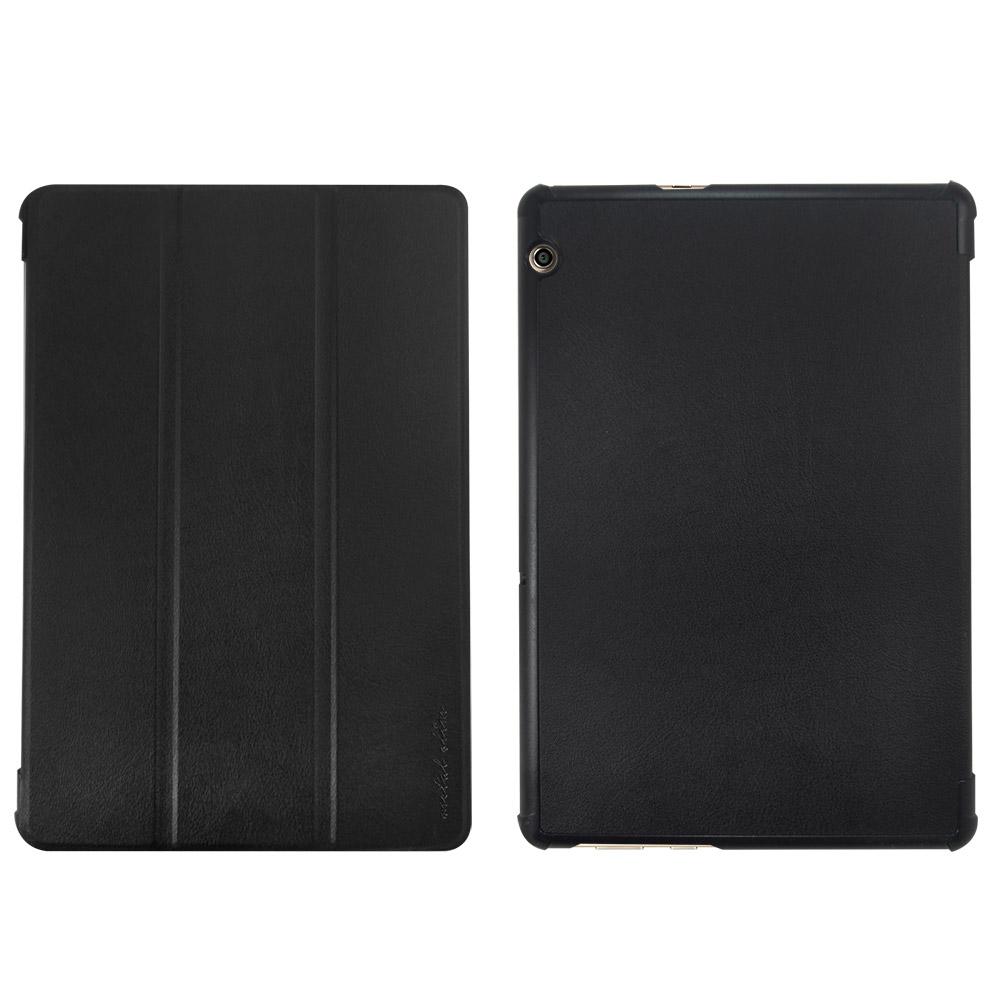 Metal-Slim Huawei MediaPad T5 10 仿小牛三折站立皮套