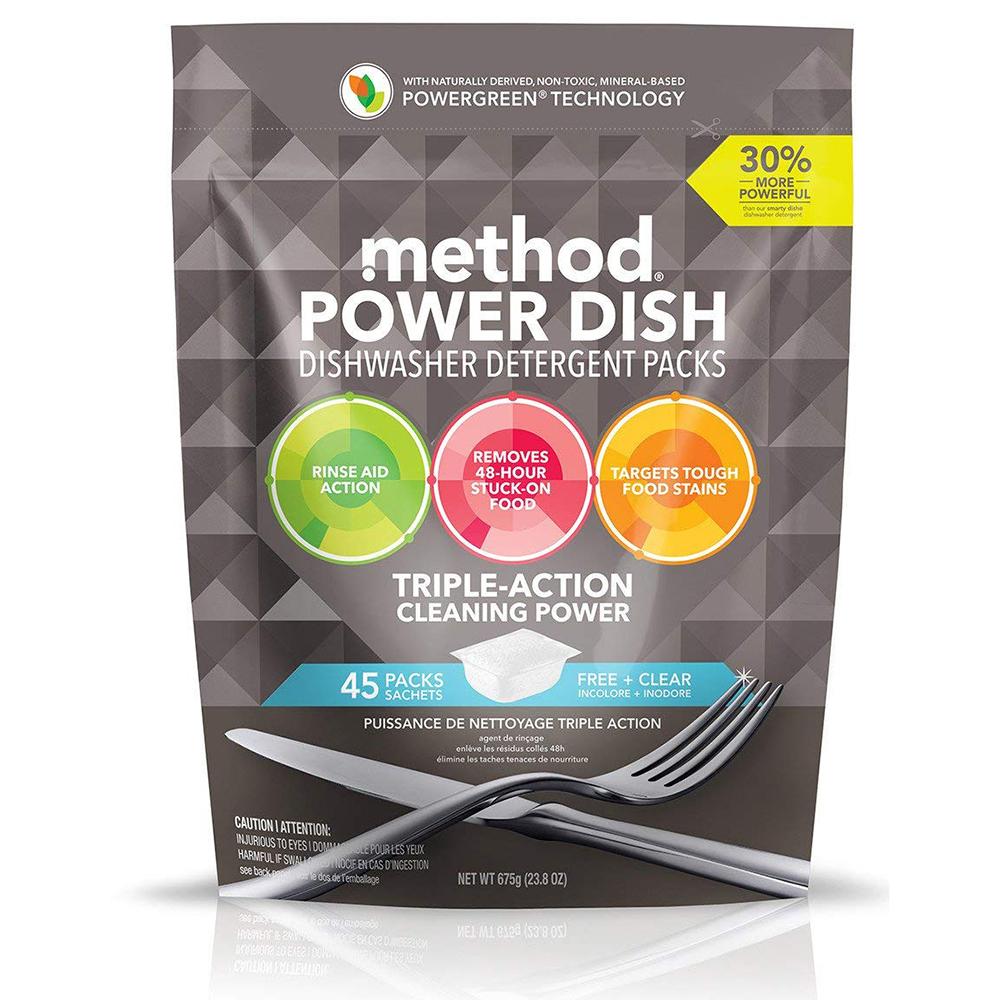 Method 美則潔淨三效聰明洗碗球-無香料(45顆入)