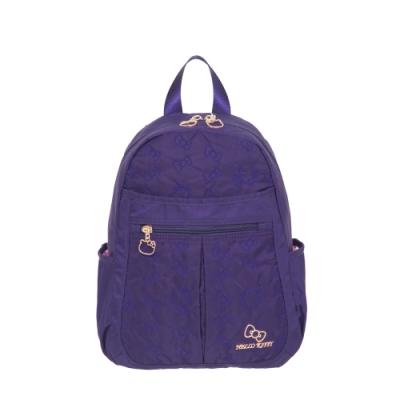 【Hello Kitty】快意之旅-後背包(小)-紫 KT01R01PL