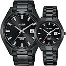ALBA雅柏 城市情人時尚對錶-黑x42+32mm