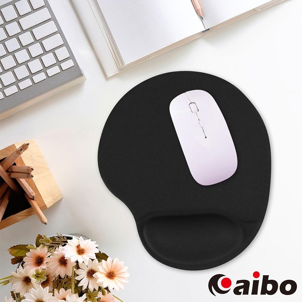 aibo 矽膠舒適護腕鼠墊(台灣製造)-黑色