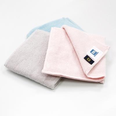 日本丸真 日本製Etak抗菌純棉快乾小方巾- 灰