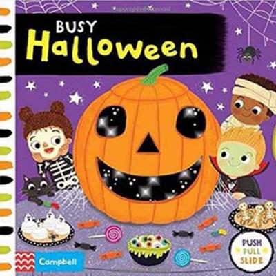 Busy Halloween 忙碌的萬聖節硬頁操作拉拉書