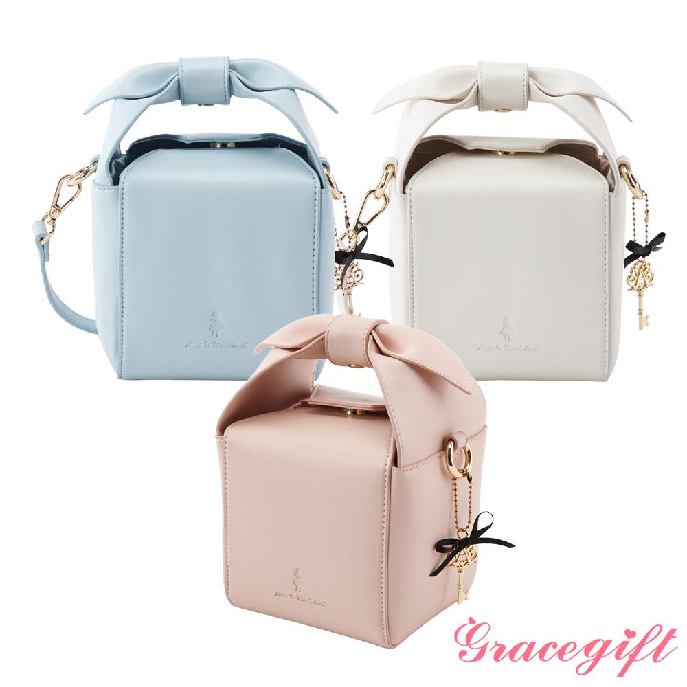 [時時樂限定]Grace gift-愛麗絲造型蝴蝶結造型方包-3色