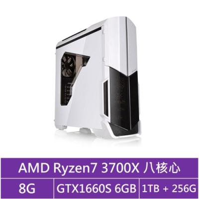 技嘉B450平台[冰刃傭兵]R7八核GTX1660S獨顯電玩機