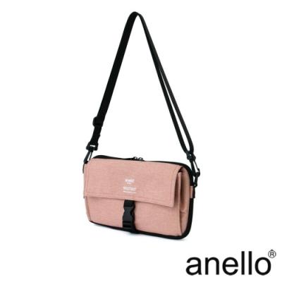 anello THE DAY 多收納輕巧斜背包 淺粉色
