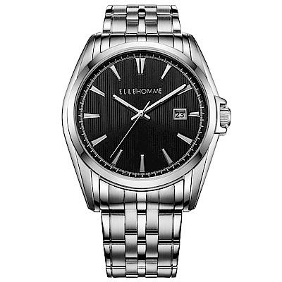ELLE 知性簡約不鏽鋼女錶-銀/25mm