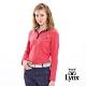 【Lynx Golf】女款羅紋摩毛布翻領款立領長袖POLO衫-桃紅色 product thumbnail 2