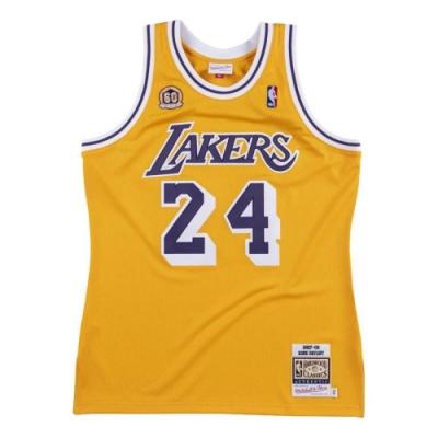 M&N Authentic球員版復古球衣 湖人隊 07-08 #24 Kobe Bryant
