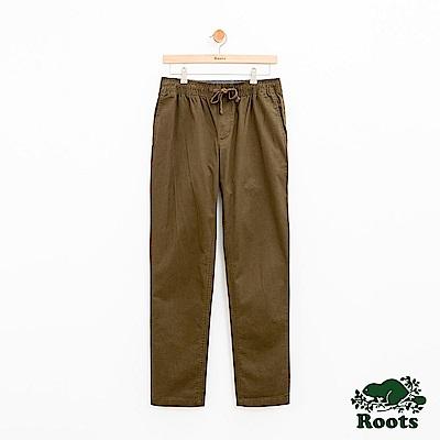 男裝Roots 基本款平織長褲-綠