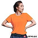 【AIRWALK】女款吸濕排汗T恤-螢光橘
