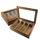 4入手錶收藏盒 配件收納 腕錶眼鏡皮帶收藏盒 實木質感 - 褐色