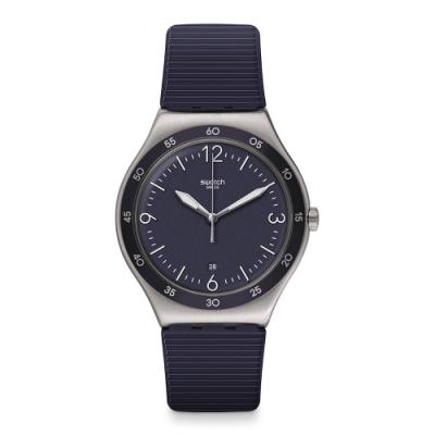 Swatch I Big Classic 金屬系列手錶 藍色正裝-42.7mm