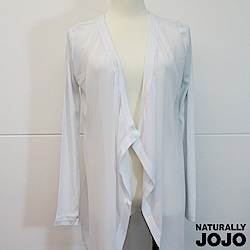 【NATURALLY JOJO】針織拼接雪紡外罩(白)