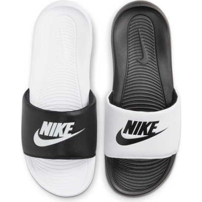 Nike Victori One Slide Mix 男休閒拖鞋-黑白-DD0234100