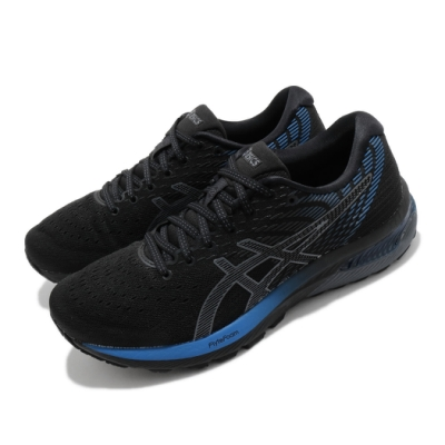 Asics 慢跑鞋 Gel Cumulus 22 運動 男鞋 亞瑟士 高緩衝 支撐 路跑 亞瑟膠 黑 藍 1011A862001