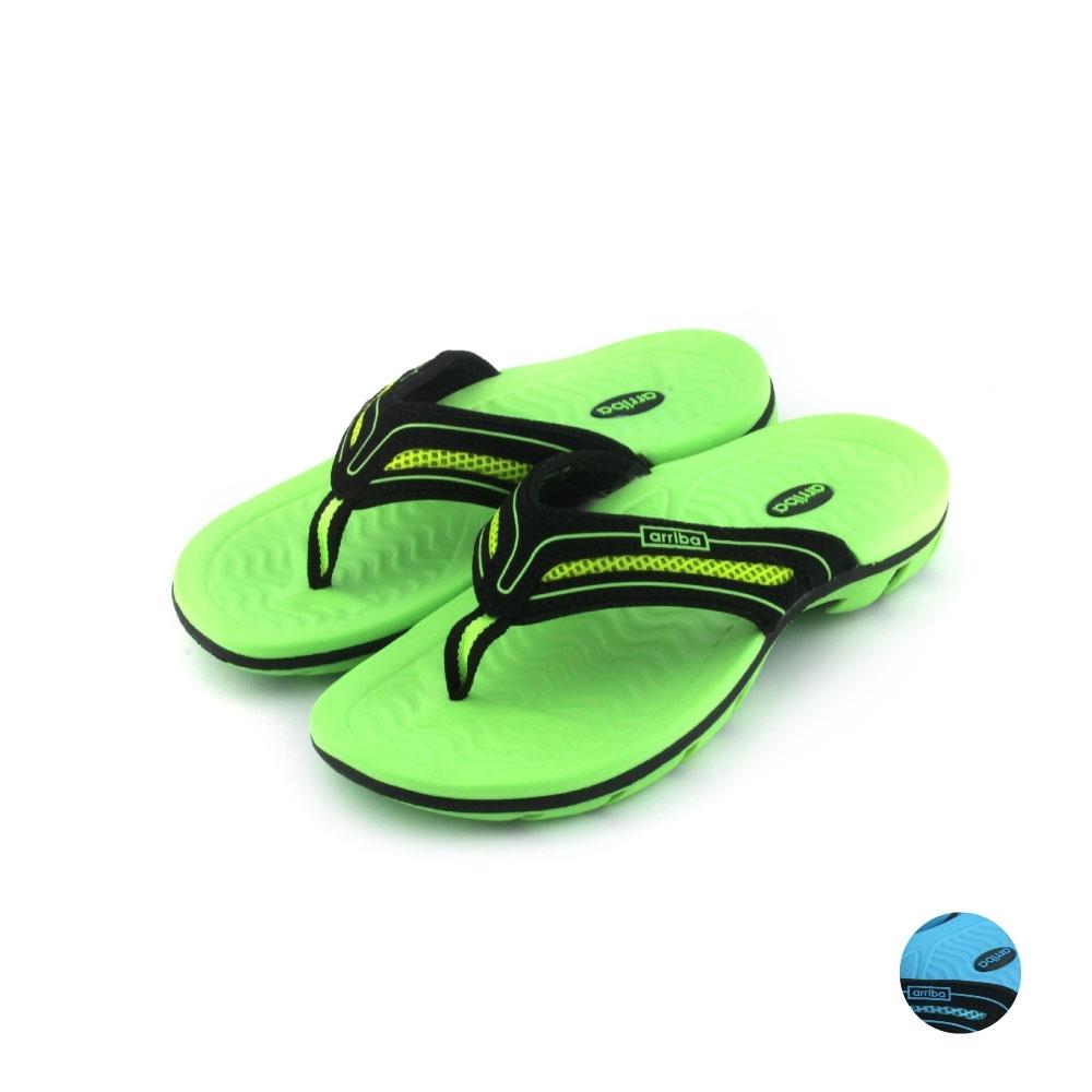 ARRIBA艾樂跑童鞋-防滑夾腳拖鞋-綠(TD6266)