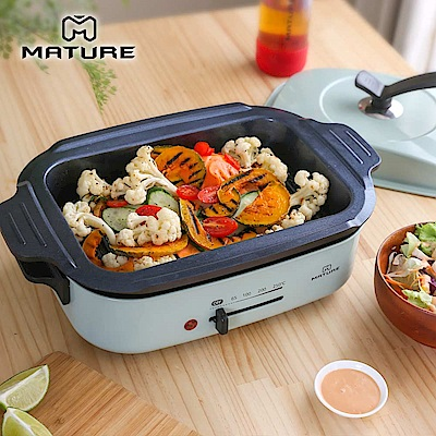 MATURE美萃 健康油切陶瓷燒烤盤 CY-1660